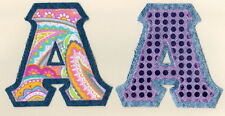 Stitched Sorority Frat Letters Any IronOn Alpha-Omega Denim & Bling