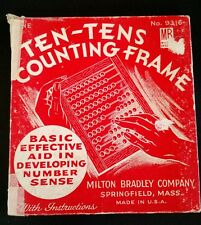 Vintage Milton Bradley Ten-Tens Counting Frame No: 9316 With Original Box Usa