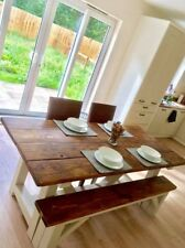 Dining Table Rustic Solid Antique Kitchen Farmhouse Table Wooden furniture
