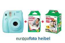 Fujifilm Fuji Instax Mini 9 immagine immediatamente Fotocamera Blu Ghiaccio 30 immagini ICE BLUE