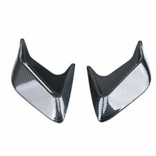 2x Car Decorative Air Scoop Flow Intake Hood Vent Bonnet Carbon Fiber Universal
