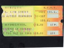 Original 1980 Todd Rundgren & Utopia concert ticket stub The Ritz Ny Adventure
