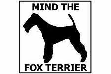 Mind the Fox Terrier - Gate/Door Ceramic Tile Sign