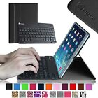 Apple iPad Leather Case w/ Wireless Bluetooth keyboard SmartShell Stand Cover