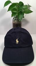 Polo Ralph Lauren Classic Sport Chino Baseball Hat Cap Navy/Yellow New