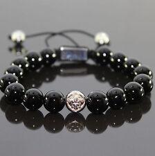 Herren Shamballa Armband/Armreifen Shambala,Acrylperlen  schwarz, für Männer