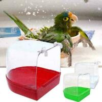 Bird Bathtub Bath Clean Box Toy Accessory For Budgies Canary Finches Cage L D3N2
