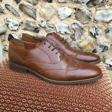 MENS EMILIO LUCA BROWN LEATHER SMART SHOES UK 11 LACE UP BROGUE WEDDING WORK