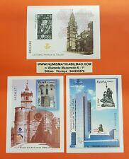 3 PRUEBAS DE LUJO España 2004 EDIFIL Nº 83+84+85 EXFILNA TOLEDO CARRACEDO LEON
