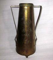 "8"" x 4"" Benedict Karnak Brass 583 Vintage Antique Etched  Flowers"