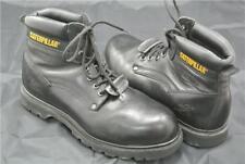 CATERPILLAR BOOTS SIZE 9 UK CAT WORK STEEL TOE OIL RESISTANT BLACK LEATHER