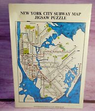 1971 Jigsaw Puzzle New York City Subway Map 500 Pieces SEALED Vintage 16x20 NOS