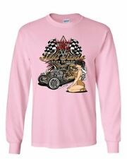 Hot Rods and Sexy Broads Long Sleeve T-Shirt Route 66 US Classic Muscle Cars Tee