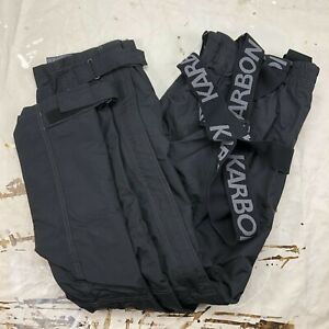 Karbon Men's Thermolite Suspenders Earth Insulated Ski Snow Pants 2XL K7310