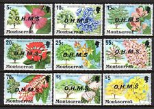 "MONTSERRAT #o10-o18—  ""OFFICIAL""  SET, ""MISSING PERIOD"" — 1975 — USED"