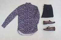 Gitman Bros Vintage - Shirt - Navy Blue Paisley - Small