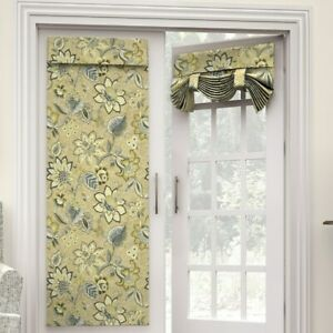 """ONE WAVERLY BRIGHTON BLOSSOM FLAX FRENCH DOOR PANEL 68"""" JACOBEAN -I HAVE2"""