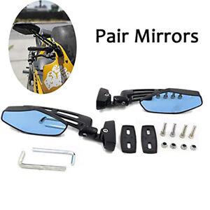1 Pair Motorcycle Black Side Rearview Mirrors For Suzuki GSXR Kawasaki Ninja 250