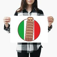 A3| Italy Italian Pisa Cork Backed Size A3 Poster Print Photo Art Mum Gift #4089