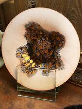 Edna Mathes • Mid Century Enamel over Copper Dish