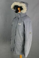 JACK WOLFSKIN Ladies Dark Grey TEXAPORE 3in1 COAT / JACKET Size Large - L UK 16
