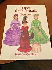 Three Antique Dolls Paper Dolls, Brenda Sneathen Mattox, 2000 - uncut!