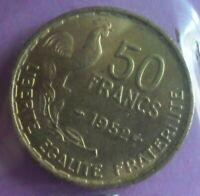 50 Francs 1952 G Guiraud : SUP : pièce de monnaie Française N11