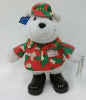 Applause The Bear American US Military Stuffed Plush Bear Christmas Camouflage