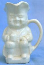Vintage Cream Ceramic Porcelain Toby Creamer Pitcher Colonial Man glossy glaze