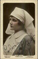 Actress Hopson Broadwest Film Star AUTOGRAPH Real Photo Postcard c1915