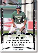 (12) DEVIN DAVIS 2014 Leaf *PERFECT GAME*  Baseball Rookie RC LOT