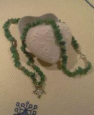 gioielli collana avventurina e argento idea regalo necklace