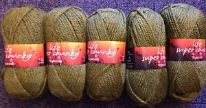 5 x 100g Stylecraft Life Super Chunky Wool/Yarn For Knitting/Crochet Guacamole