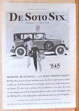 1929  magazine ad for De Soto - De Soto Six, Modish & beautiful Sedan de Lujo