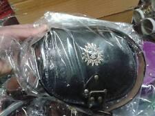 borsa nera pelle vero cuoio tracolla artigianale con tracolla bag skin