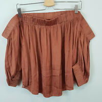 SHEIKE | Womens Brown Blouse Off shoulder Top [ Size AU 14 or US 10 ]