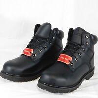 """New Dexter Men's Douglas Steel Toe 6"""" Work Boot Black 11W Oil Resistant Soles"""