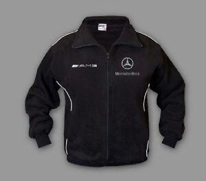 Neu Herren Mercedes AMG Fleece Jacke Fan Bekleidung mit Stickerei Sport Jacket