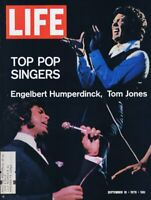 ORIGINAL Vintage Life Magazine September 18 1970 Tom Jones Englebert Humperdinck