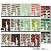 Heavy Fully Lined Floral or Circle Retro Contemporary Print Curtains 15 Colours