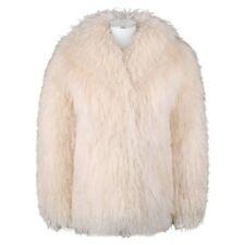 SAFURON Cream Curly Mongolian Lamb Fur Coat Jacket
