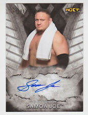 SAMOA JOE 2016 Topps WWE NXT On-Card Auto #D /99 Online Exclusive Coquina Clutch