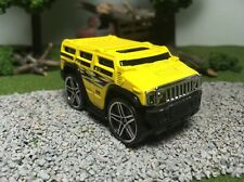 Hot Wheels CUSTOM WHEEL SWAP Yellow Hummer H2 Blings