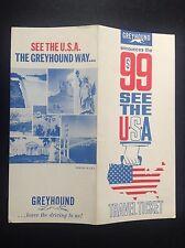 Rare ancien dépliant Brochure Greyhound USA TBE
