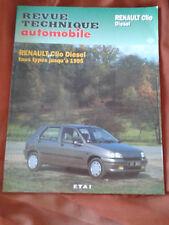 REVUE TECHNIQUE AUTOMOBILE - RENAULT CLIO DIESEL - TOUS TYPES JUSQU'A 1995