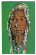 Native American Indian CHIEF PAINTING Gerda Christofferson Vintage Postcard  Art