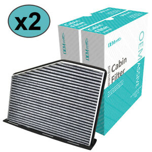 2x Activated Carbon Cabin Air Filter For VW Caddy Tiguan Jetta Beetle Audi A3 Q3