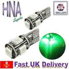 2x ERROR FREE CANBUS 5 SMD LED 501 T10 W5W luce verde sul lato interno del Regno Unito AUDI