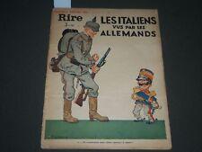 1939 JUNE 9 LE RIRE FRENCH MAGAZINE - LES ITALIENS VUS PAR LES ALLEMANDS - H 663