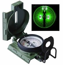 G.I. Phosphorescent Lensatic Military Compass OD Glow In Dark US Made Compasses